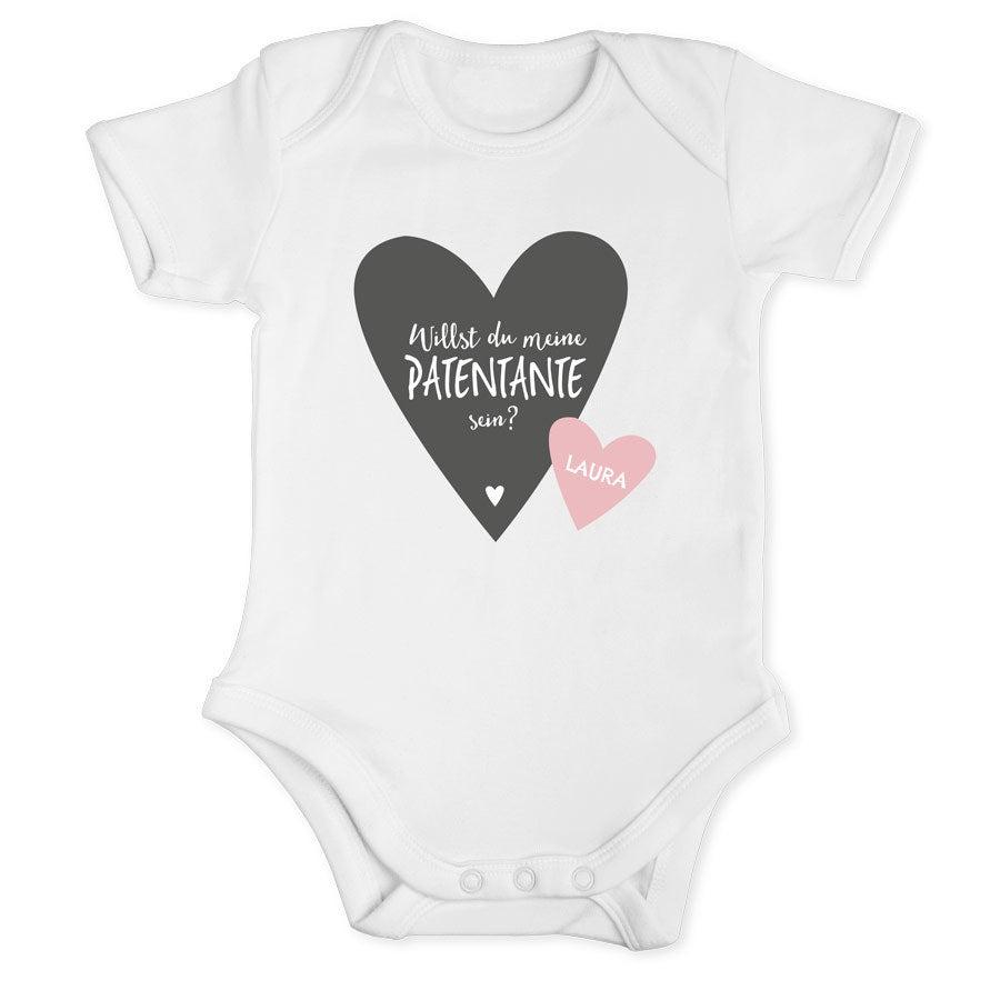 Individuellbabykind - Patentante Babybody Kurzarm Weiß 50 56 - Onlineshop YourSurprise