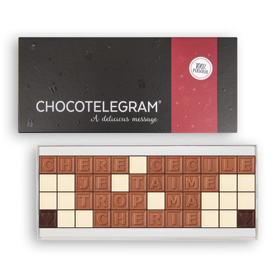 Chocotelegram - Coffret cadeau 4 x 12
