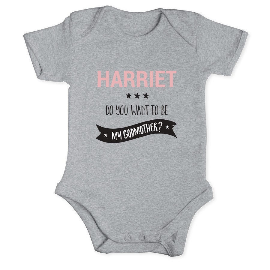Will you be my godmother - Romper - Grey - 50/56
