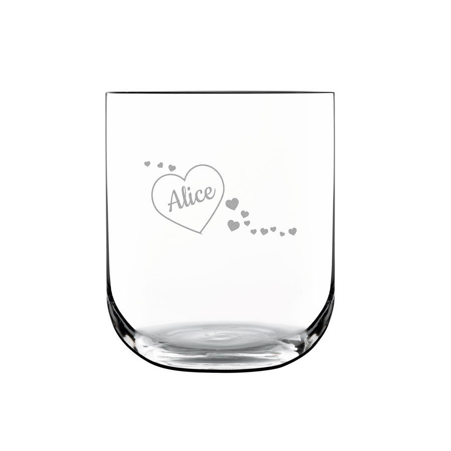 Luxurious personalised water glass