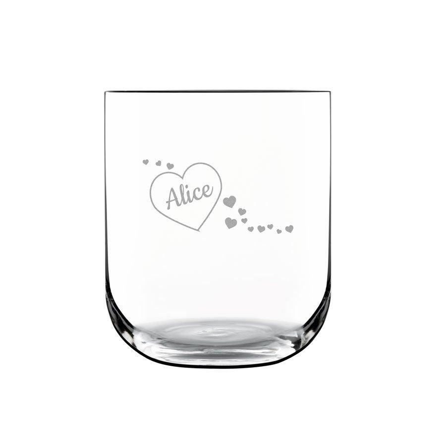 Luxusné personalizované vodné sklo