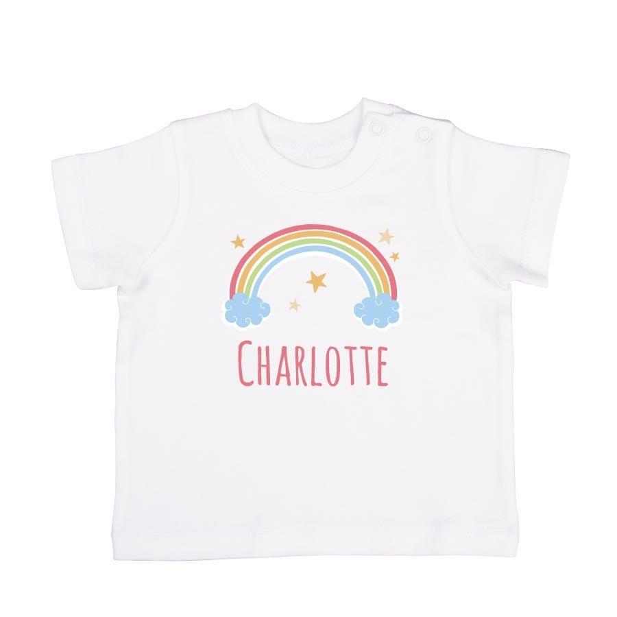 Individuellbabykind - Baby T Shirt Kurzarm Weiß 74 80 - Onlineshop YourSurprise