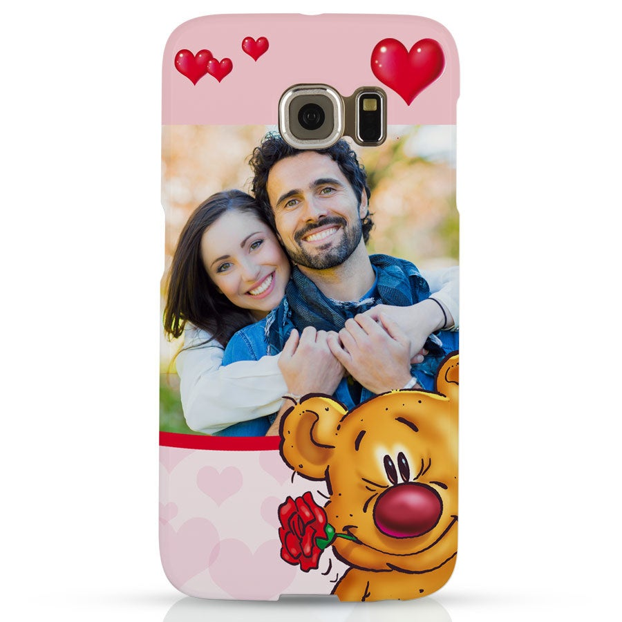 Doodles - Samsung Galaxy S6 edge - Photo case 3D print