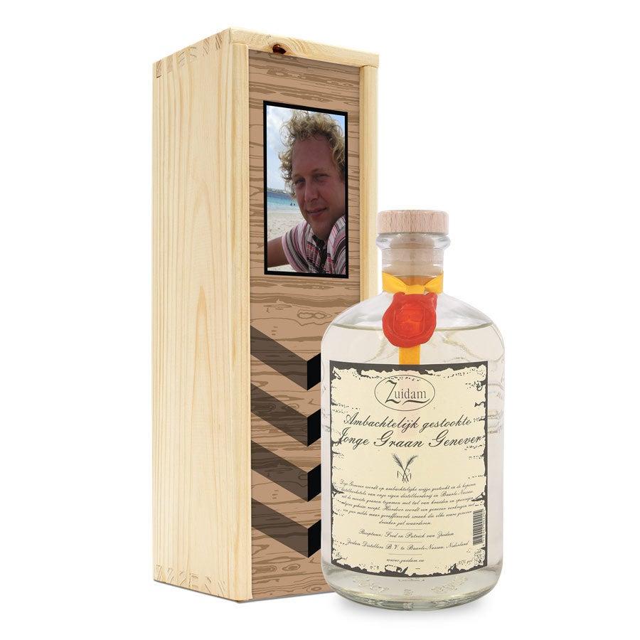 Genever v potištěné krabici - mladý Zuidam