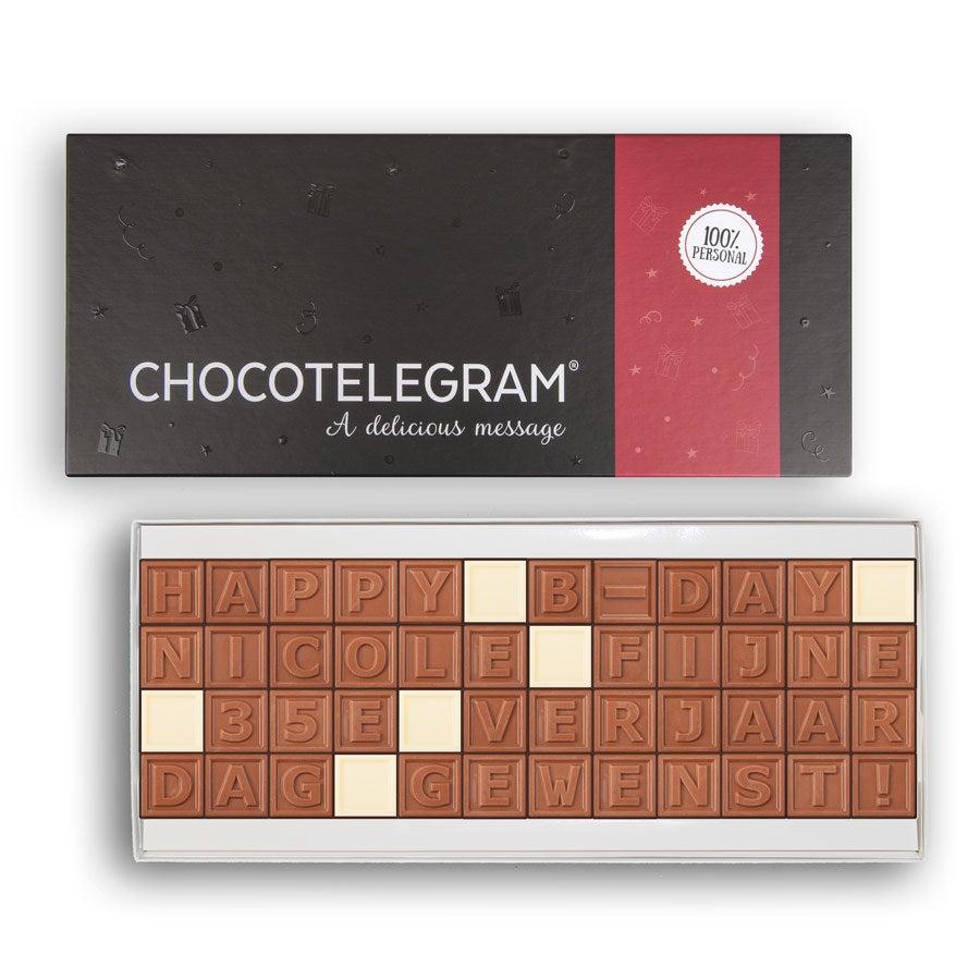 Chocotelegram met persoonlijke boodschap - 48 letters