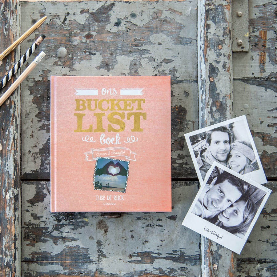 Het Bucketlist boek voor koppels met namen en foto's (Hardcover)