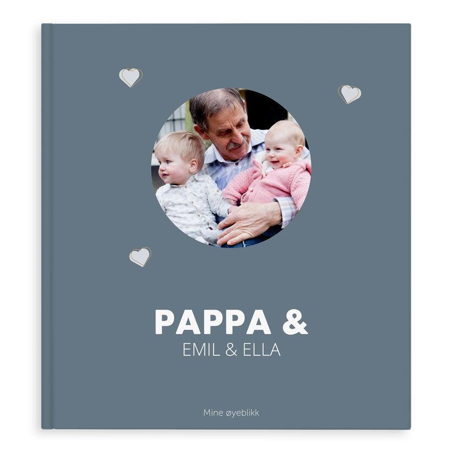 Fotoalbum - Bestefar & meg/oss - XL - Stiv perm - 40 sider