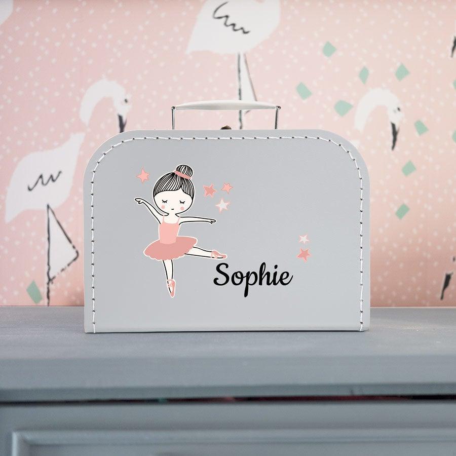 Individuellbabykind - Kinderkoffer Grau Mittel - Onlineshop YourSurprise