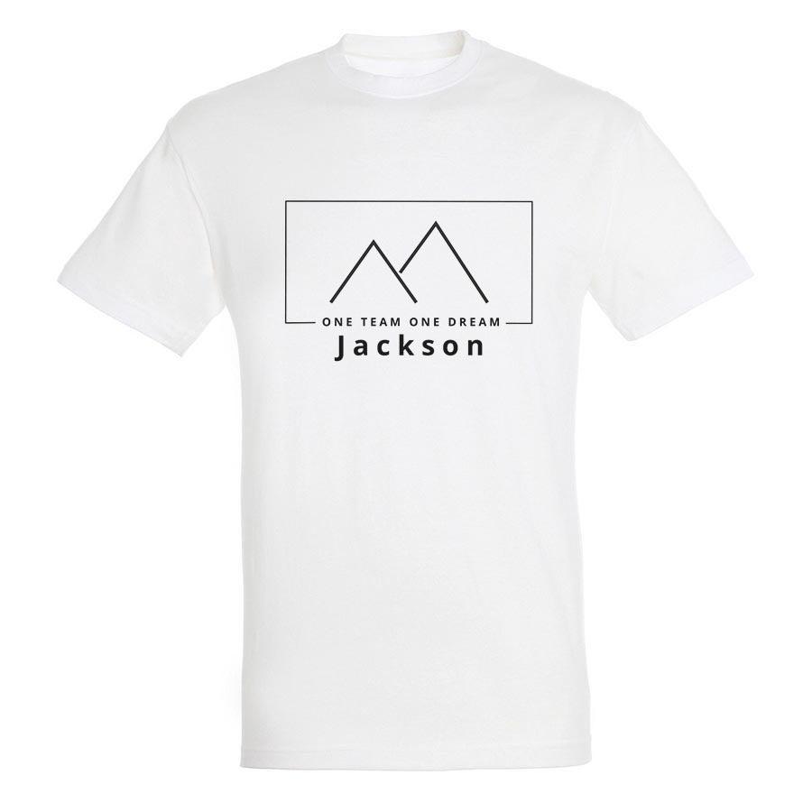 T-paita omalla painatuksella - Miehet - Valkoinen - S