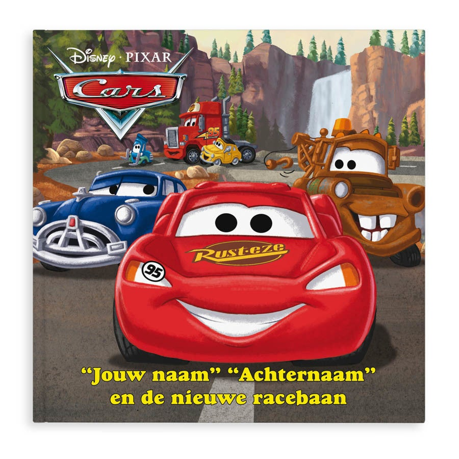 Boek met naam - Disney Cars (hardcover)