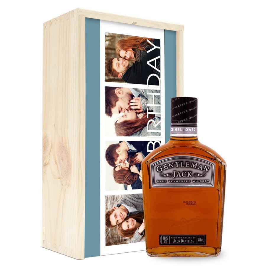 Bourbon Jack Daniels Gentleman Jack - w skrzynce z nadrukiem