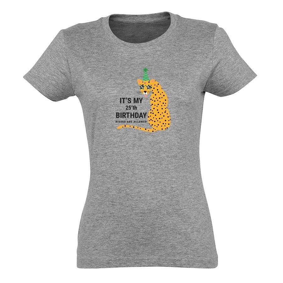 T-shirt voor vrouwen bedrukken - Grijs - M
