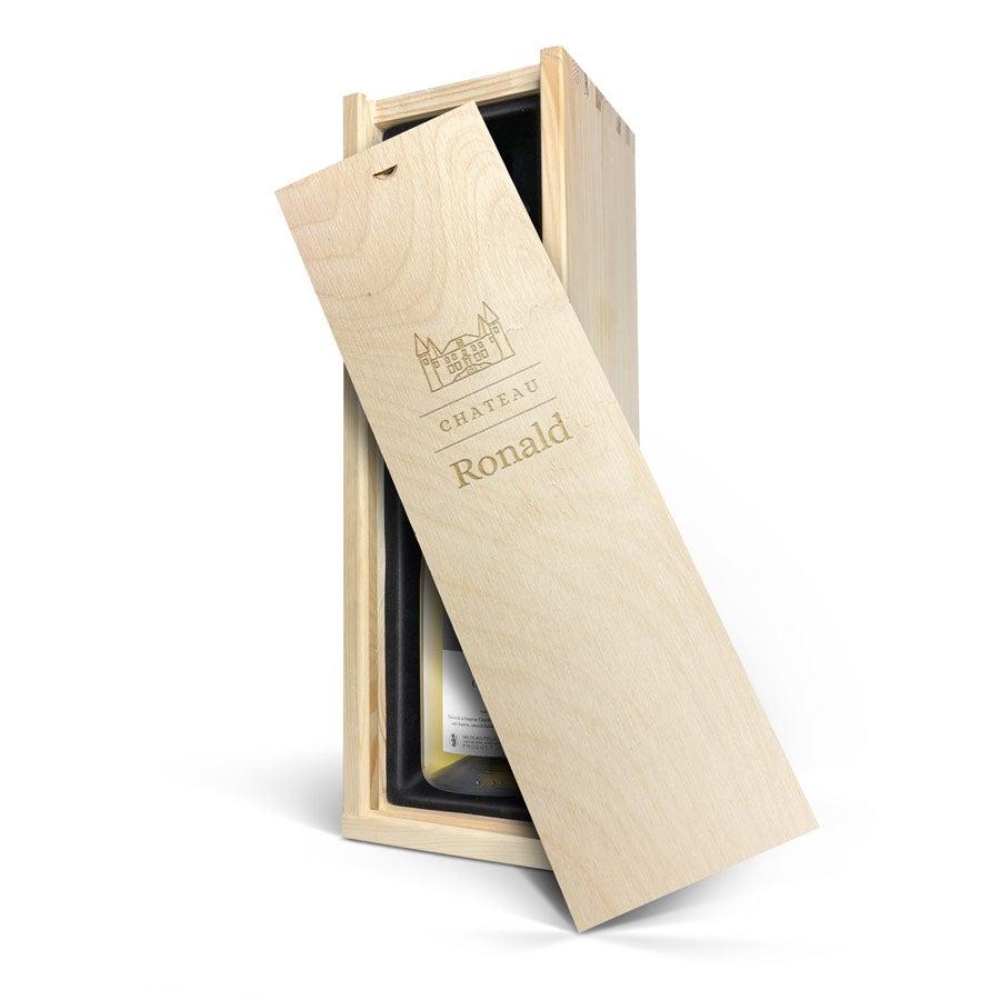 Wijn in gegraveerde kist - Maison de la Surprise - Chardonnay