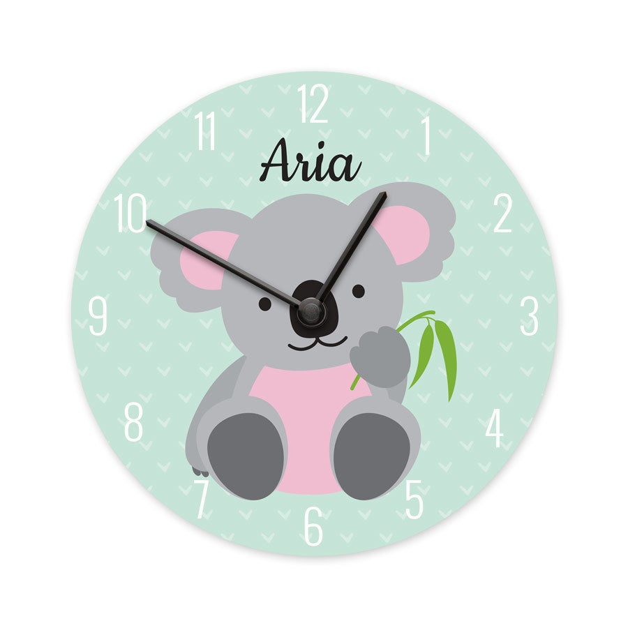 Childrens clock - Medium - Round (hardboard)