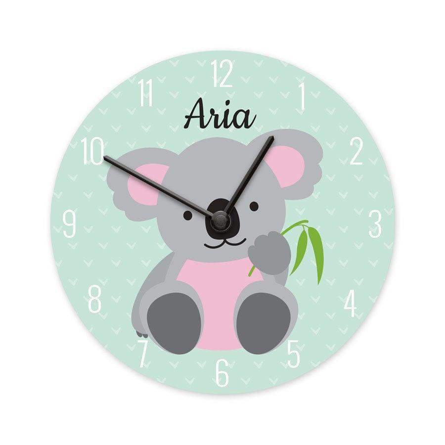 Reloj para niños - Pequeño - Redondo (madera dura)
