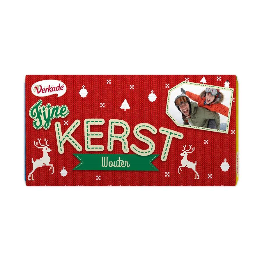Verkade chocoladereep bedrukken - Kerst (Hazelnoot)