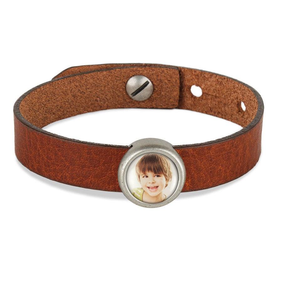 Bracelet personnalisé - marron - 1 charm