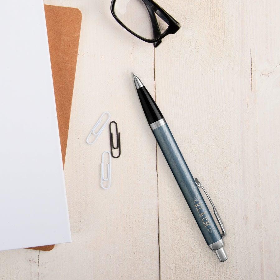 Individuellbesonders - Parker IM Kugelschreiber Rechtshänder (Blau Grau) - Onlineshop YourSurprise