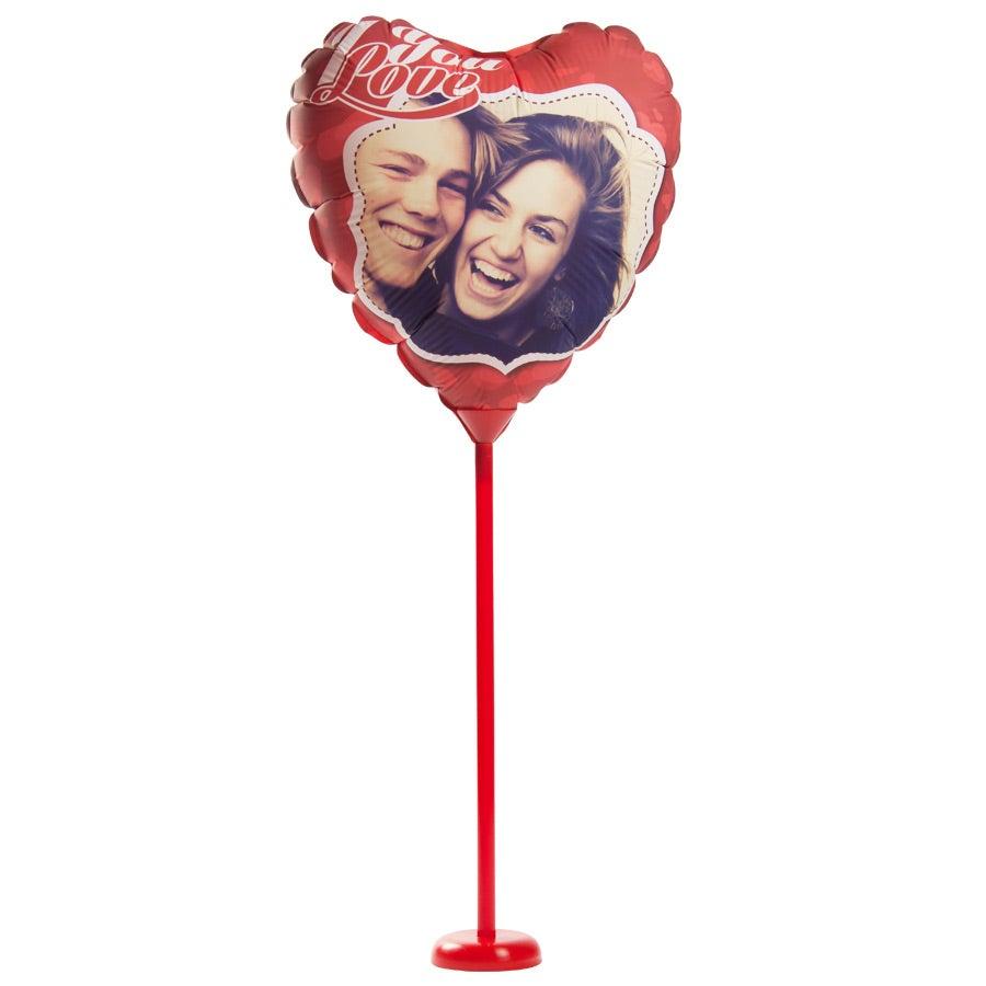 Ballon bedrucken - Herz - Stab