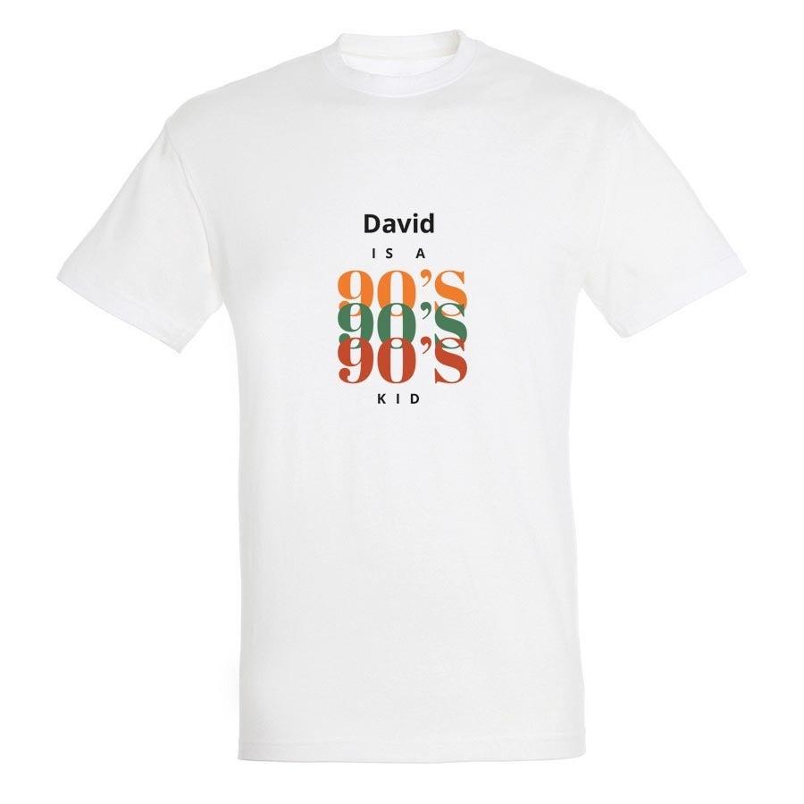 T-paita - Miehet - Valkoinen - XL