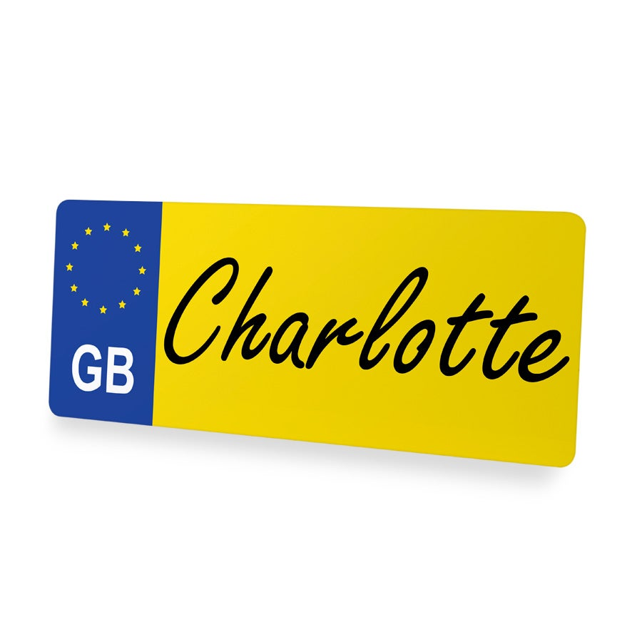 Personalised Decorative Number Plate