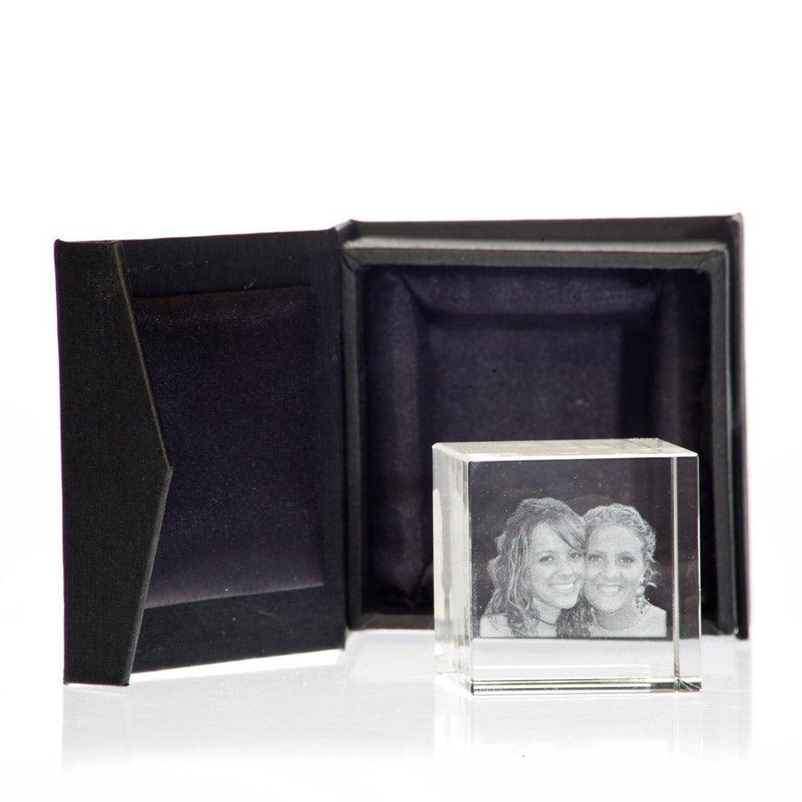 2D foto in glas - 40 x 40 x 40 mm
