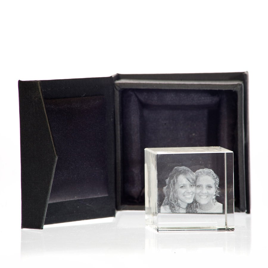 3D foto in glas - 50 x 50 x 50 mm