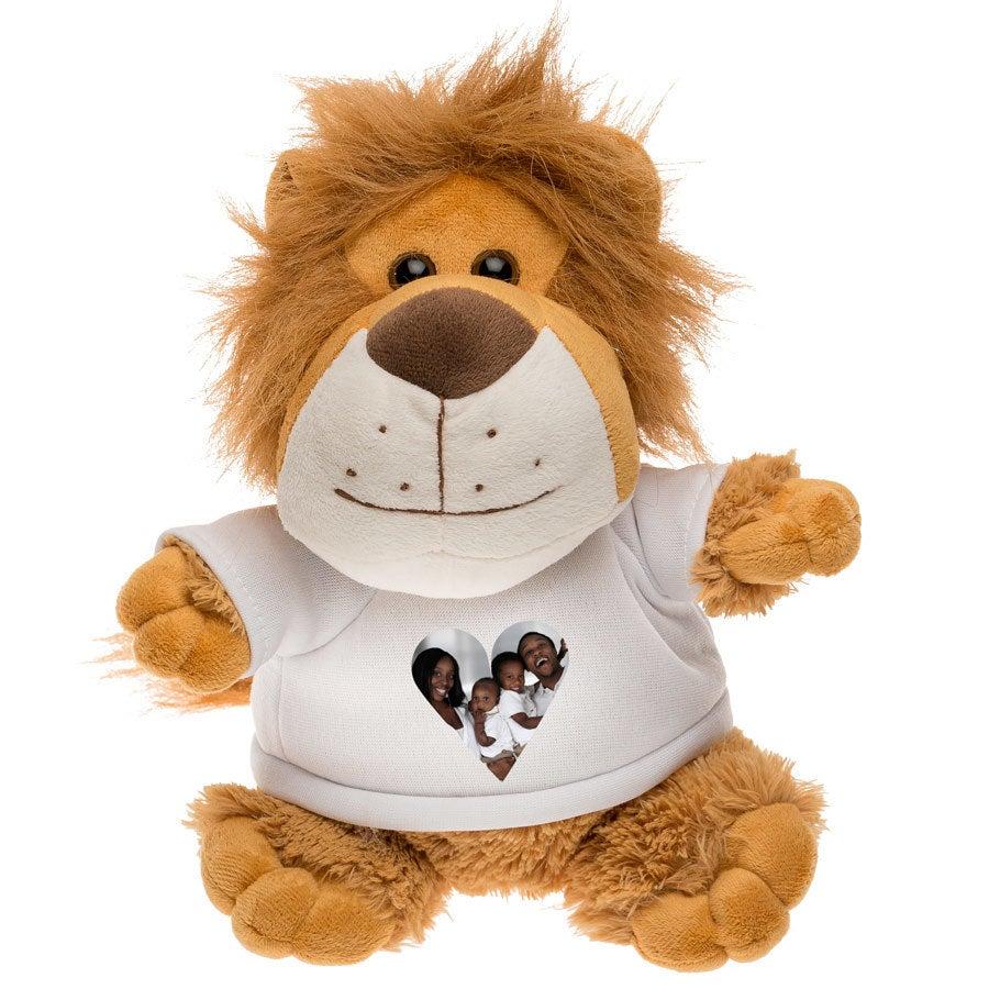 Peluche con camiseta personalizada - León