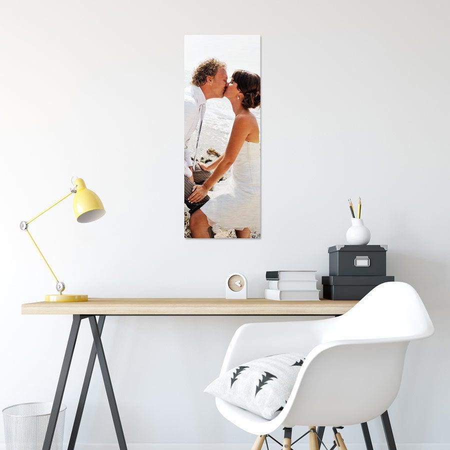 ChromaLuxe Alumiininen valokuvapaneeli - Harjattu (30x80cm)