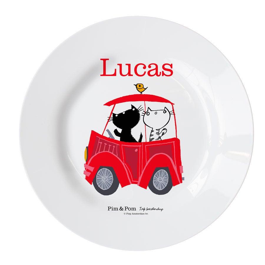 Pim & Pom Børns tallerken- Bil (3)