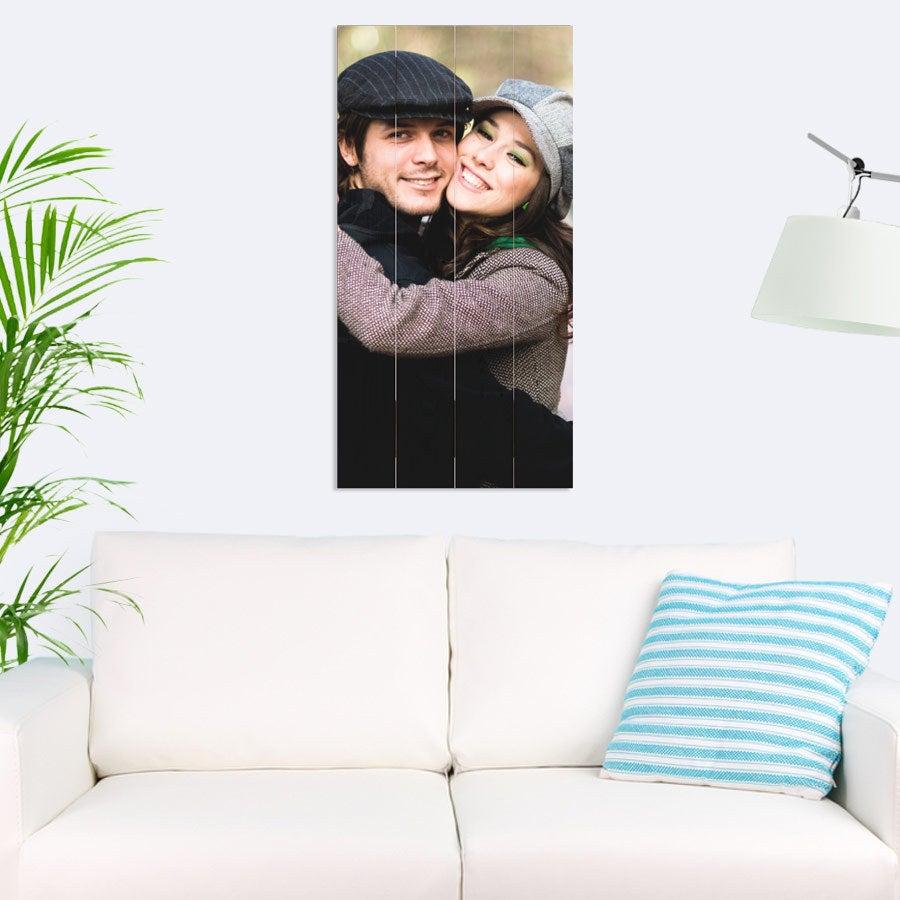 Foto op hout afdrukken - Planken - 40 x 80 cm