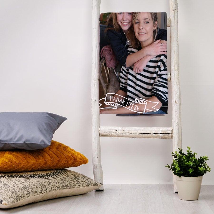 Plaid - Polaire fine - 75 x 100 cm -Thème Fête des Mères