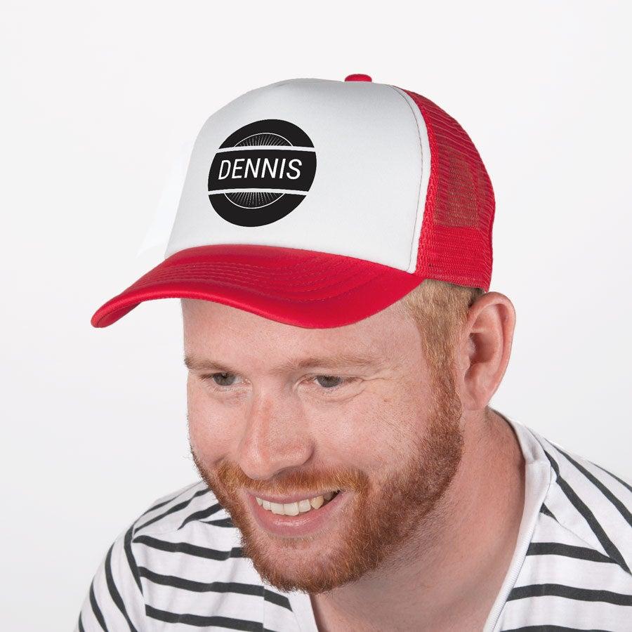 Trucker cap bedrukken - Rood/wit
