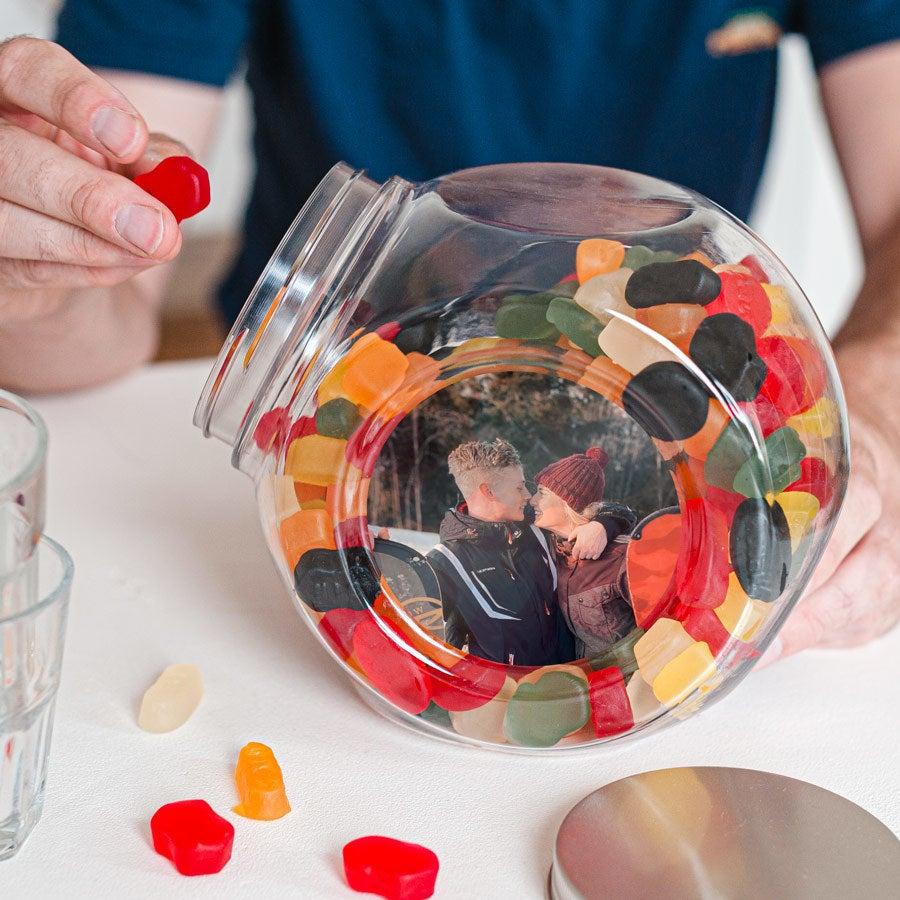 Süßigkeitenglas mit Weingummi - Kunststoff