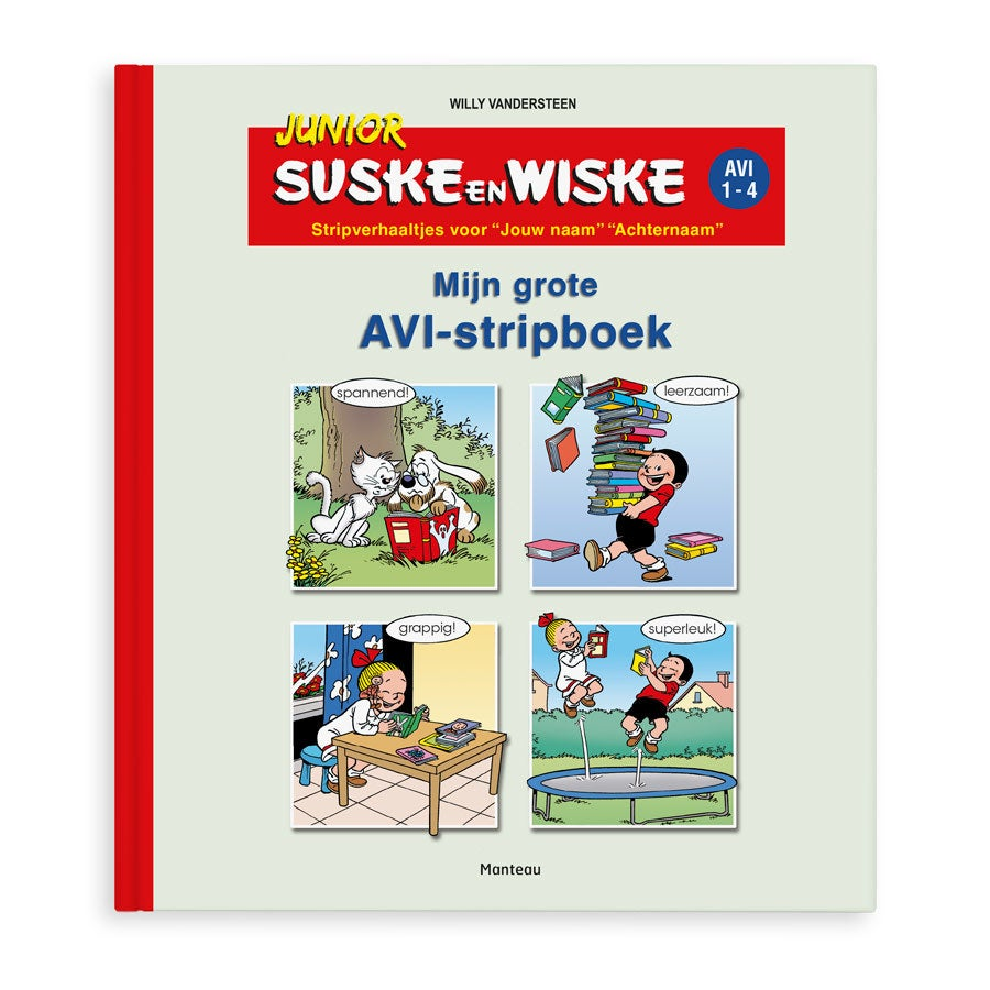 Stripboek met naam - Suske & Wiske junior voor jongens - Softcover
