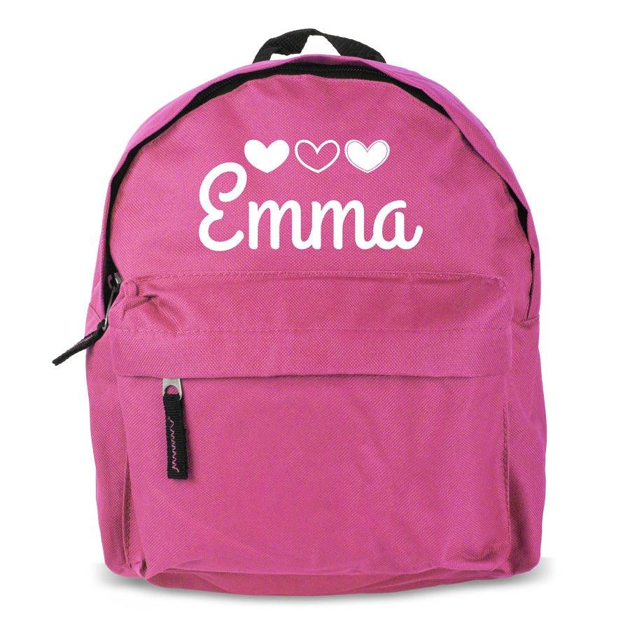 Personlig barn rygsæk - Pink