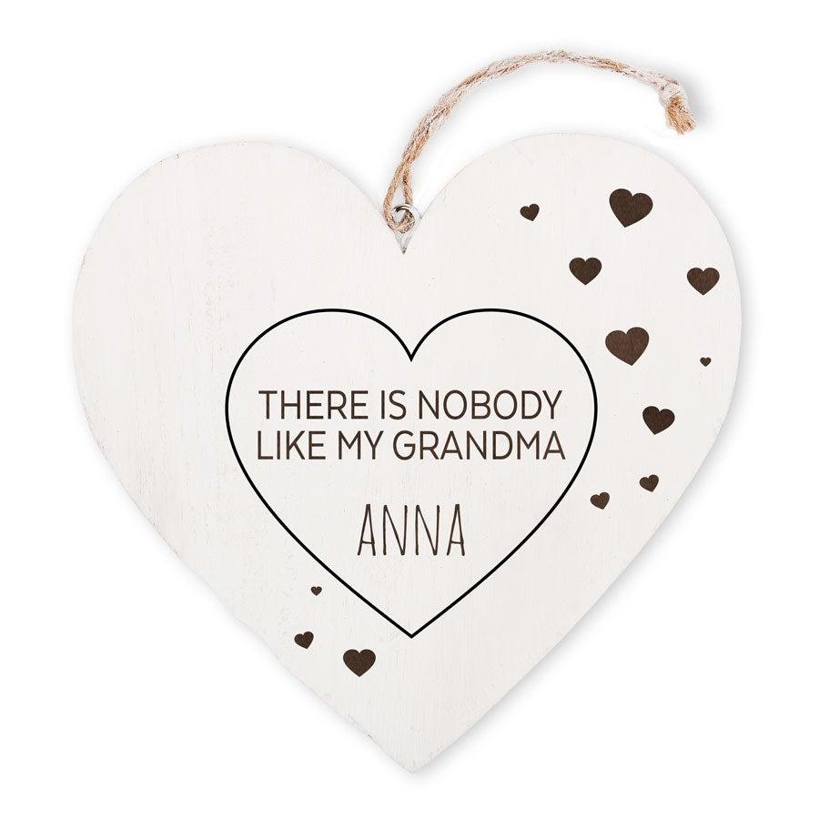 Babička je dřevěné srdce