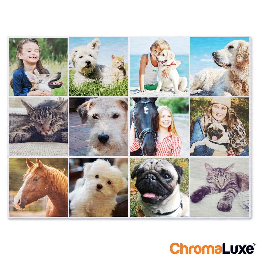ChromaLuxe Alumiininen valokuvapaneeli - Harjattu (80x40cm)