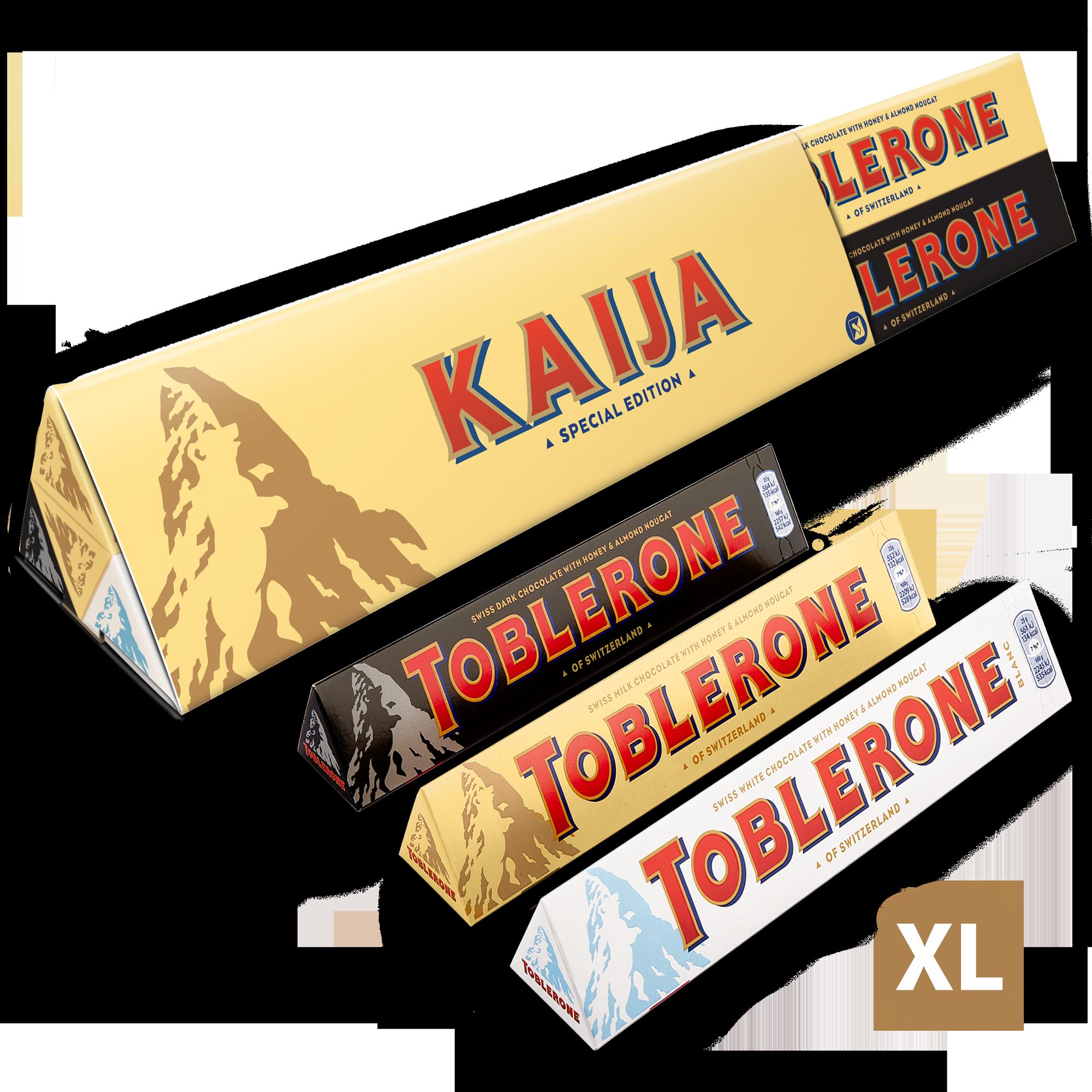 Toblerone-suklaalajitelma omalla nimellä - XL