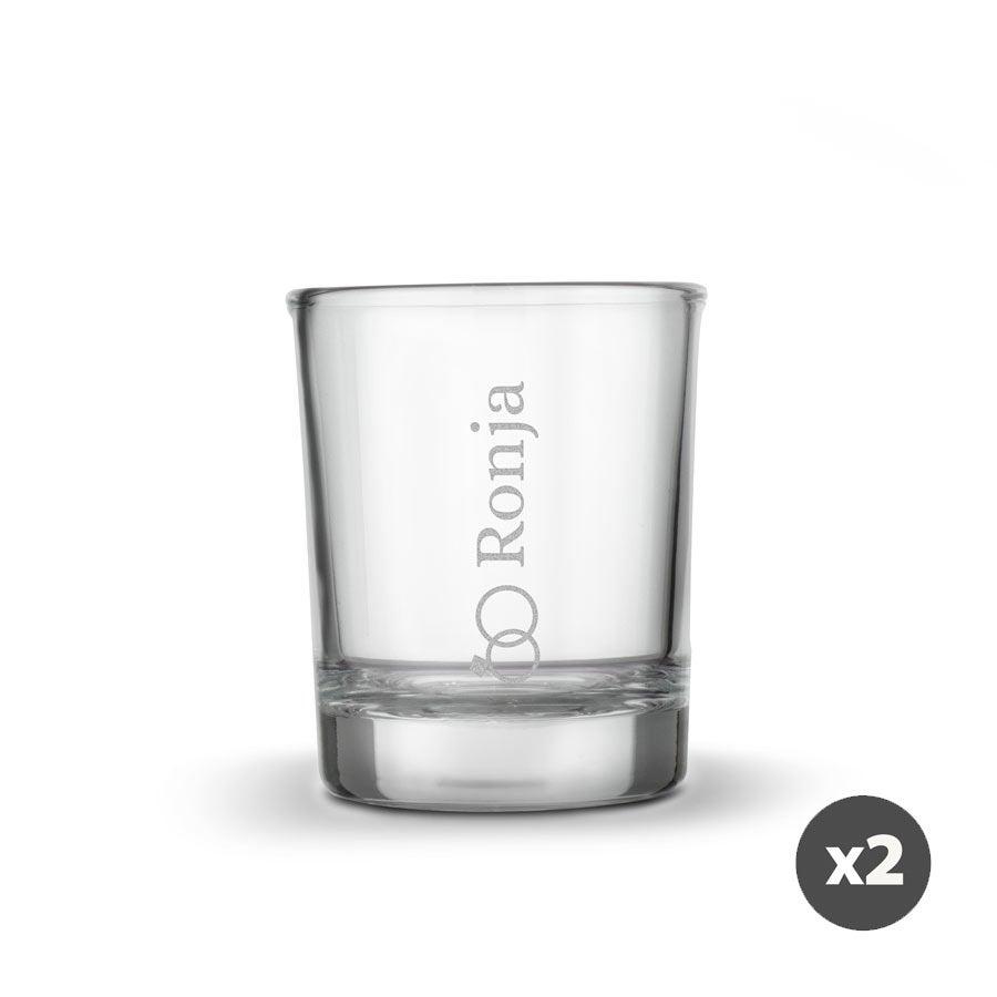 Individuellküchenzubehör - Schnapsglas mit Gravur 2 Stück - Onlineshop YourSurprise