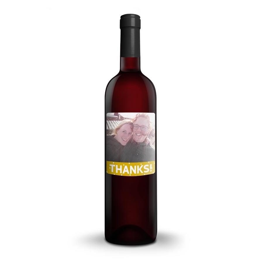 Wino Mwa De Meler Somontano - etykieta z nadrukiem