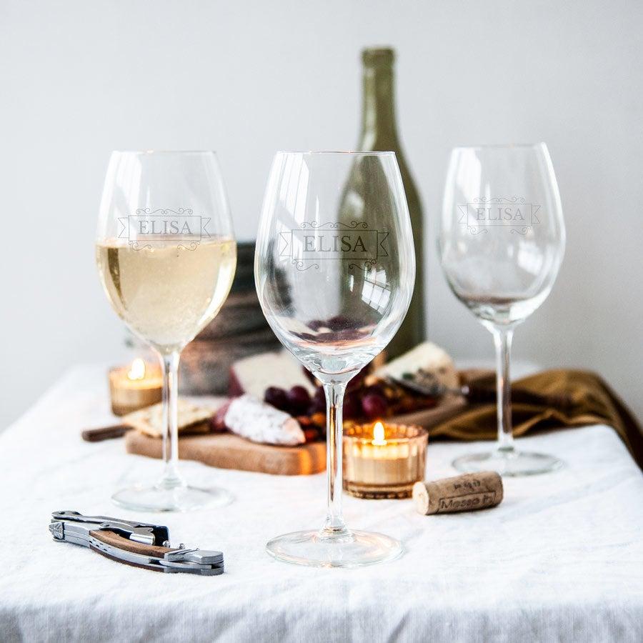 Wit wijnglas graveren