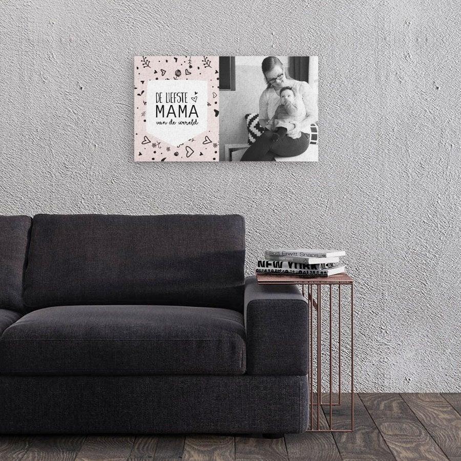 Moederdag foto op canvas - 60x40 cm