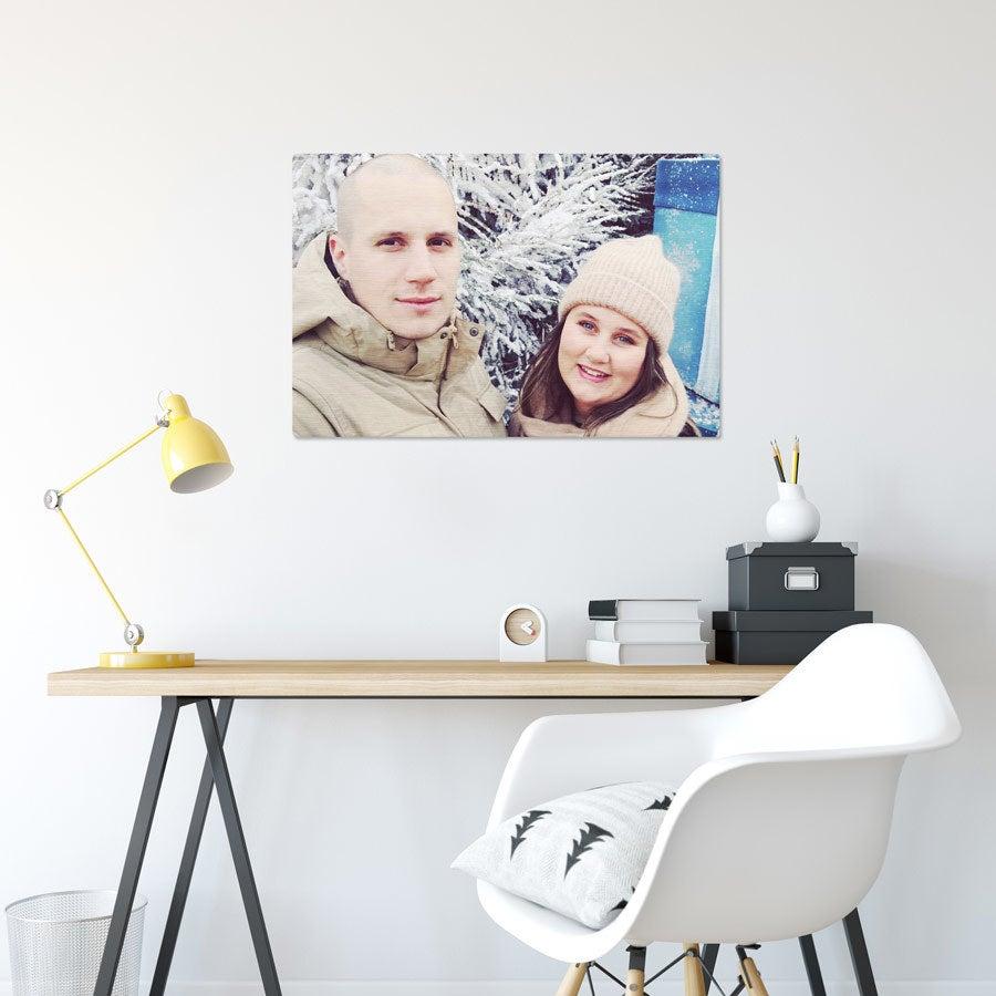 ChromaLuxe alumiininen valokuvapaneeli - Harjattu (75x50cm)