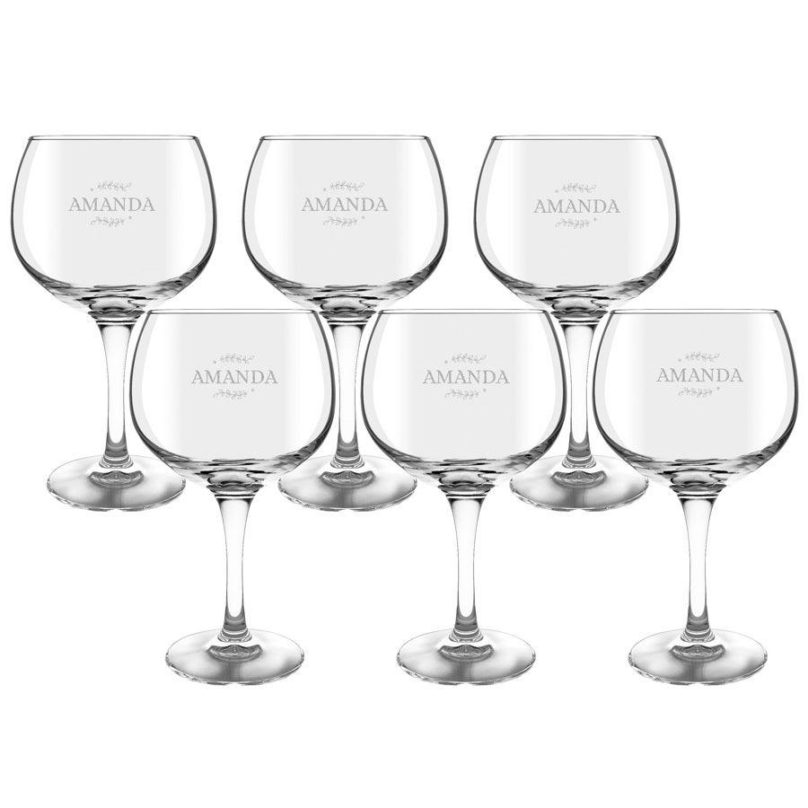 Gin Tonic Gläser - 6 Stück