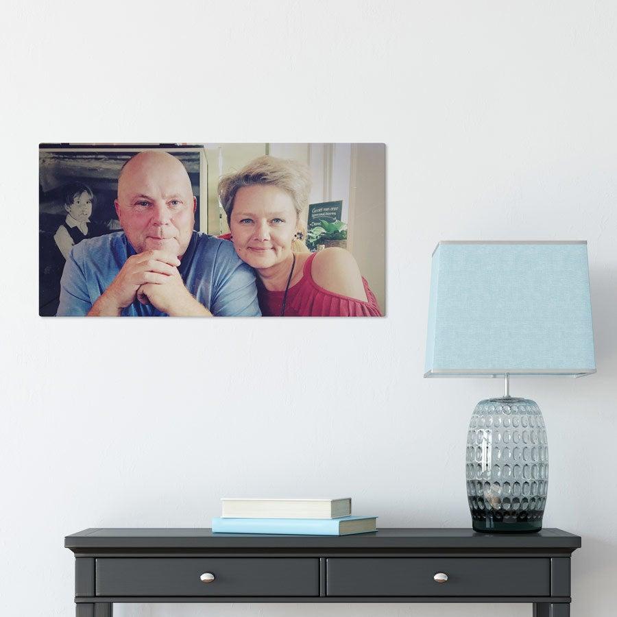 Foto op aluminium afdrukken - Wit (ChromaLuxe) - 60 x 30 cm