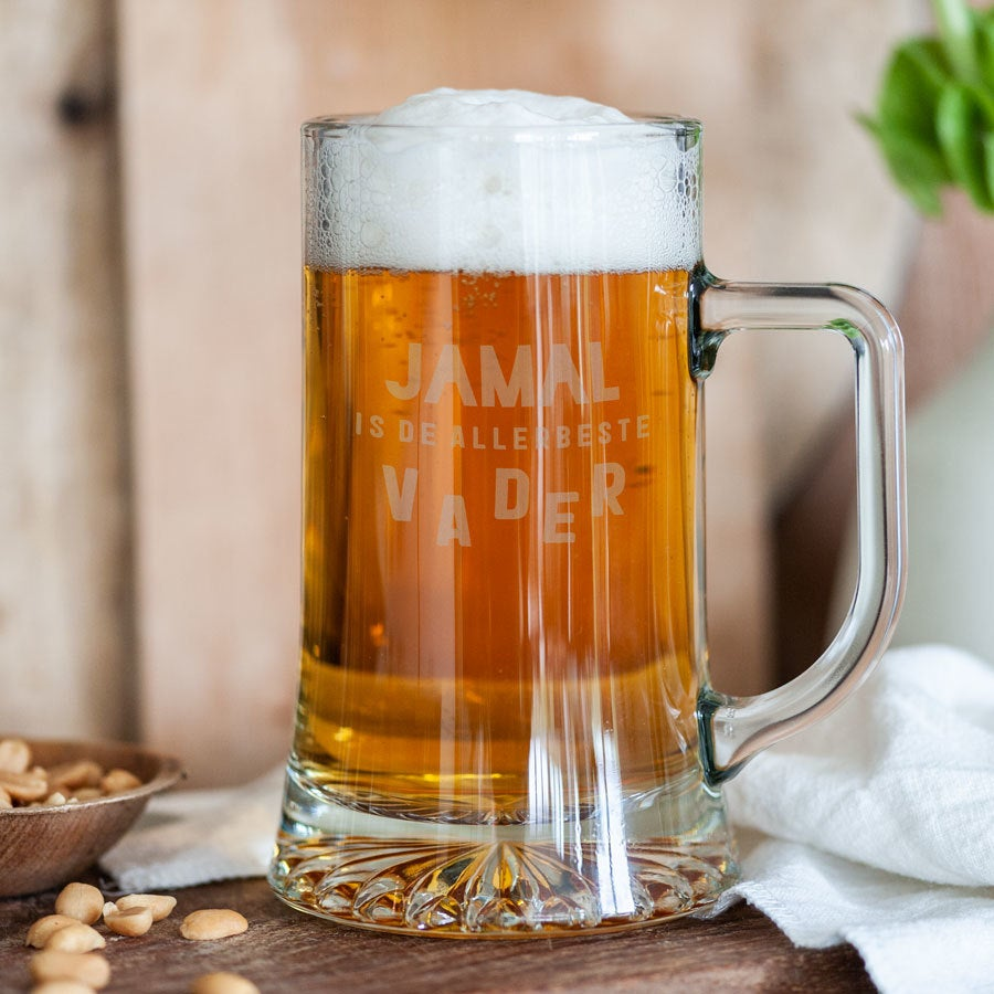 Vaderdag bierpul graveren