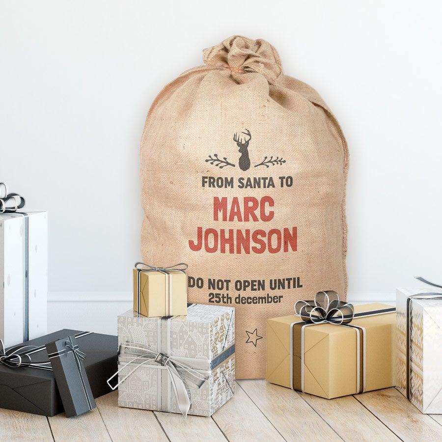 Burlap Christmas sack