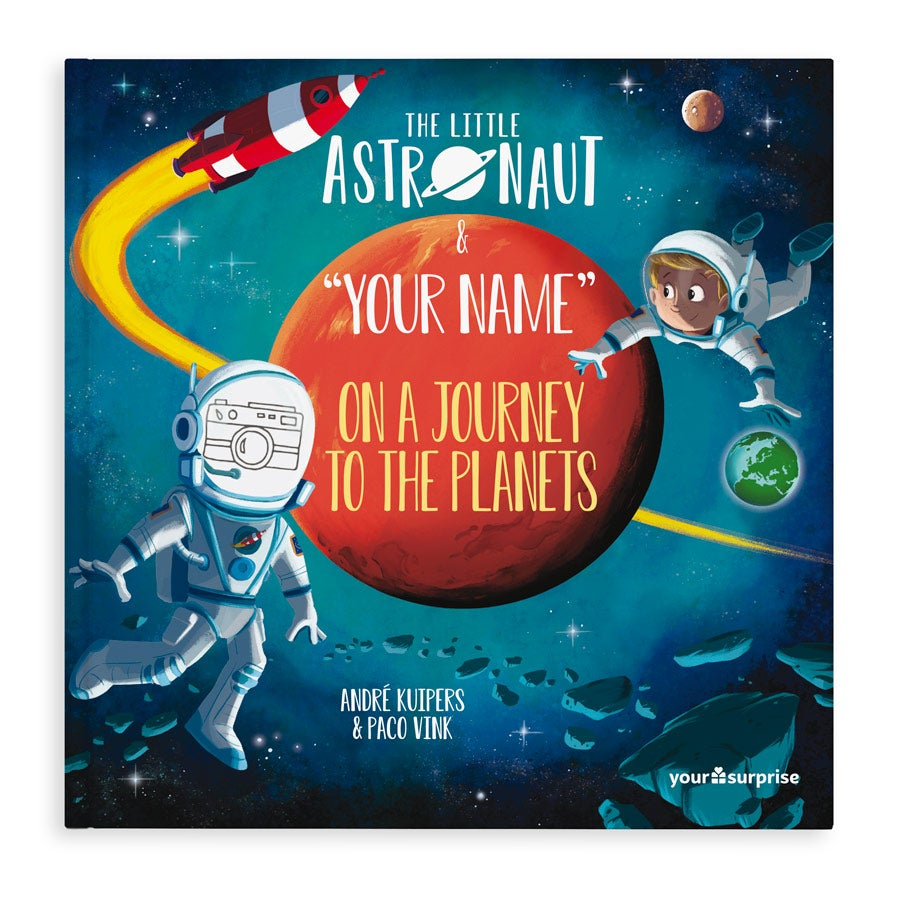 Personalised book – Little Astronaut on a journey to the planets – Hardcover