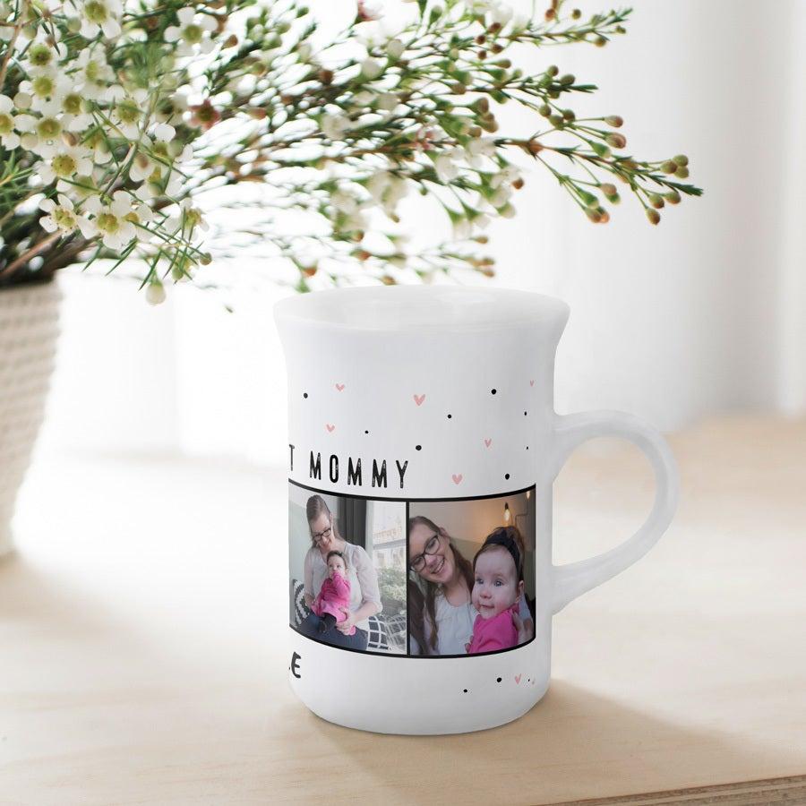 Taza de cerámica alta con foto - Blanco